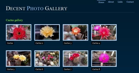 Decentgallery in 100 Free High-Quality XHTML/CSS Templates