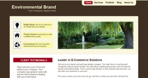 Envirobrand in 100 Free High-Quality XHTML/CSS Templates