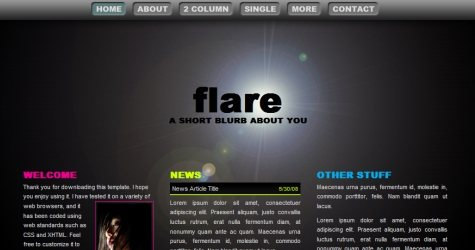 Flarpic in 100 Free High-Quality XHTML/CSS Templates