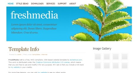 Freshmedia in 100 Free High-Quality XHTML/CSS Templates
