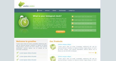 Greefies in 100 Free High-Quality XHTML/CSS Templates
