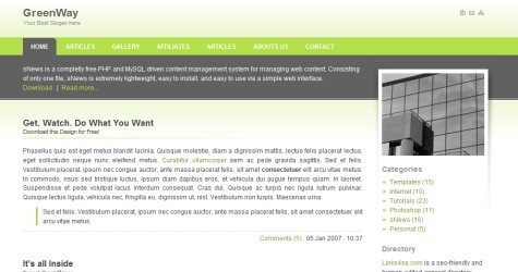 Greenway in 100 Free High-Quality XHTML/CSS Templates
