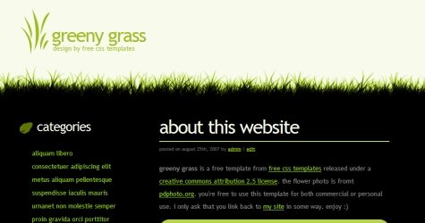 Greeny in 100 Free High-Quality XHTML/CSS Templates