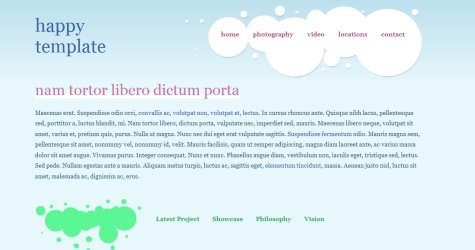 Happytemp in 100 Free High-Quality XHTML/CSS Templates
