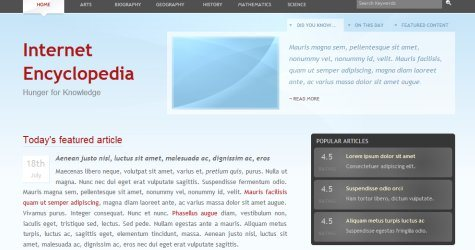 Intenc in 100 Free High-Quality XHTML/CSS Templates