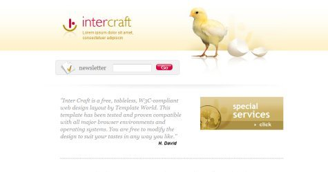 Intercraft in 100 Free High-Quality XHTML/CSS Templates