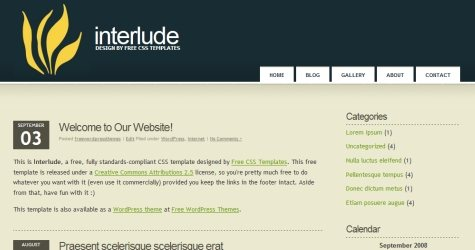 Interlude in 100 Free High-Quality XHTML/CSS Templates