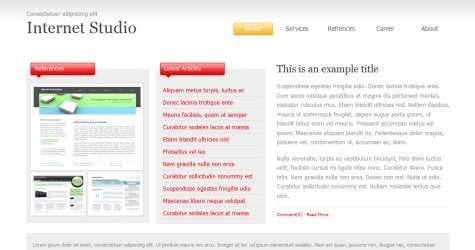 Intstudio in 100 Free High-Quality XHTML/CSS Templates