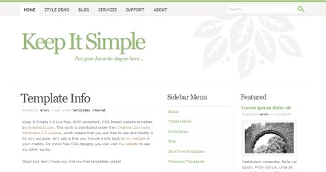 Keepit in 100 Free High-Quality XHTML/CSS Templates