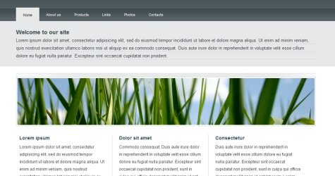 Naturetheme in 100 Free High-Quality XHTML/CSS Templates
