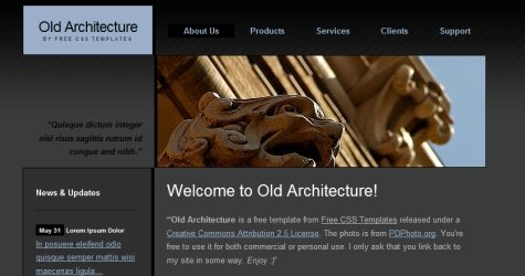 Oldarch in 100 Free High-Quality XHTML/CSS Templates