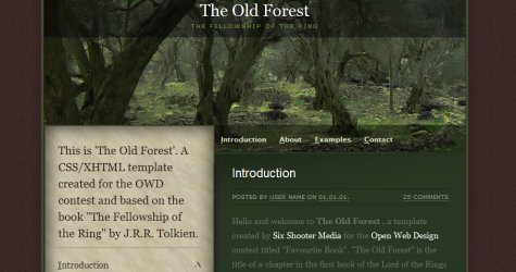 Oldforest in 100 Free High-Quality XHTML/CSS Templates