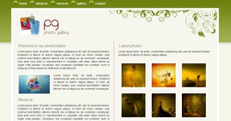 Photogreen in 100 Free High-Quality XHTML/CSS Templates