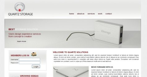 Quartzi in 100 Free High-Quality XHTML/CSS Templates
