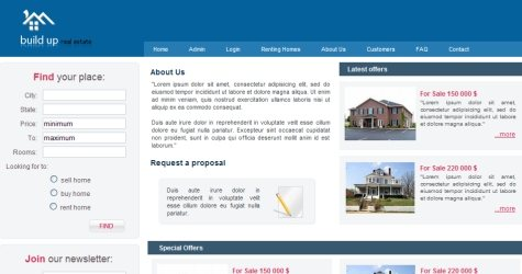 Realestate in 100 Free High-Quality XHTML/CSS Templates