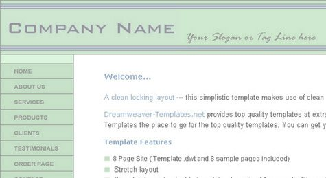 css template 4