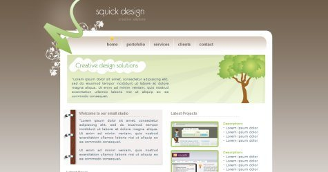 Squick in 100 Free High-Quality XHTML/CSS Templates