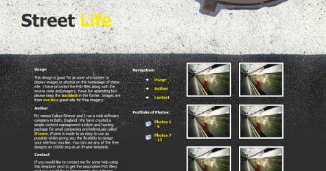 Streetlife in 100 Free High-Quality XHTML/CSS Templates