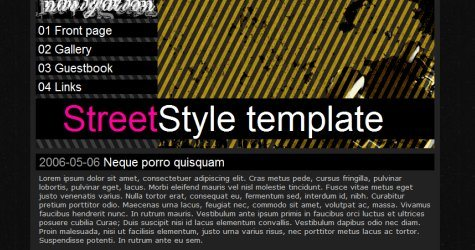 Streetstyle in 100 Free High-Quality XHTML/CSS Templates