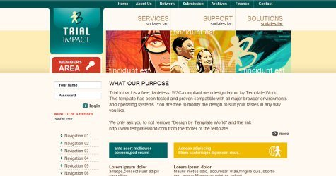 Trialimpact in 100 Free High-Quality XHTML/CSS Templates