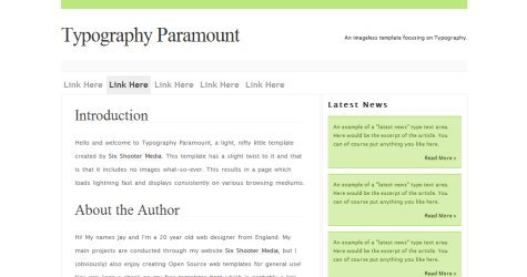 Typopara in 100 Free High-Quality XHTML/CSS Templates