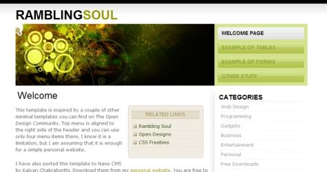 Unnamed in 100 Free High-Quality XHTML/CSS Templates