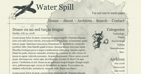Waterspill in 100 Free High-Quality XHTML/CSS Templates