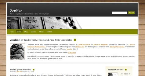 Zenlike in 100 Free High-Quality XHTML/CSS Templates