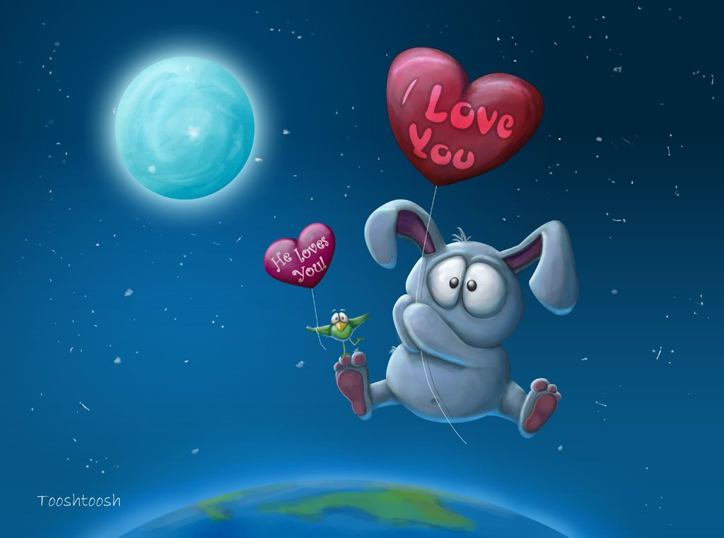 The Bunny Who loved me by Tooshtoosh 52 Free High Resolution Valentines Day Wallpapers by Designsmag