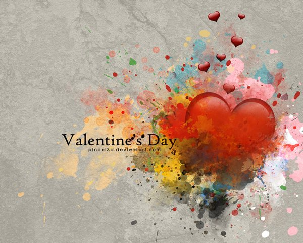 Valentines by pincel3d 52 Free High Resolution Valentines Day Wallpapers by Designsmag