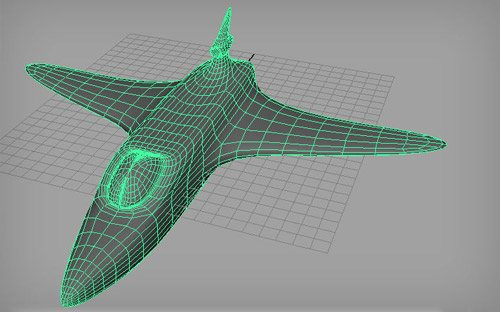 Space Ship in The Ultimate Collection Of Maya 3D Tutorials