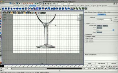 Wine Glass in The Ultimate Collection Of Maya 3D Tutorials