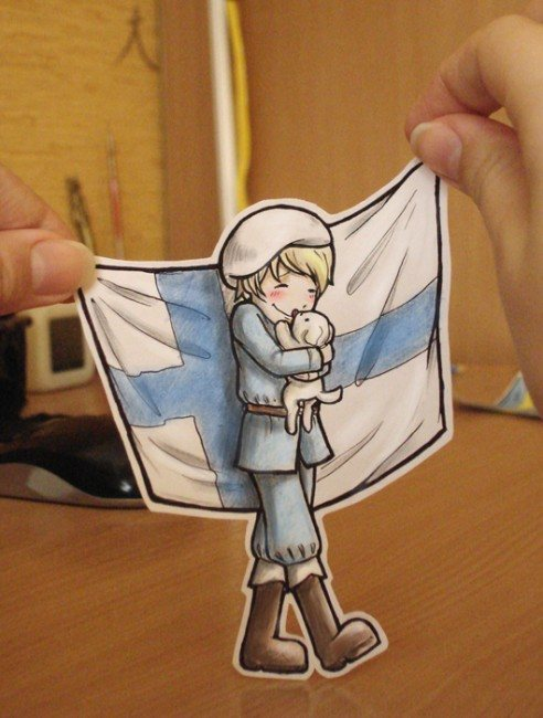 Finland Paper Child 492x650 26 Amazing Examples Of Paper Art