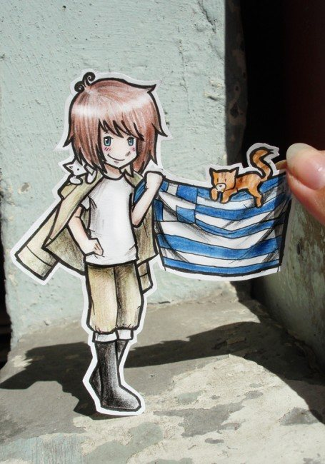 Greece Paper Child 455x650 26 Amazing Examples Of Paper Art