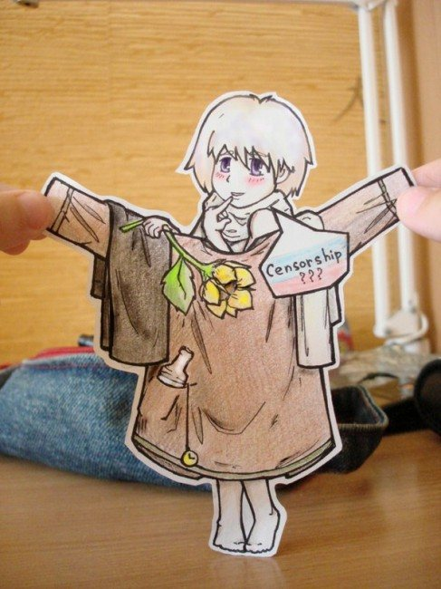 Russia paper Child 2 487x650 26 Amazing Examples Of Paper Art
