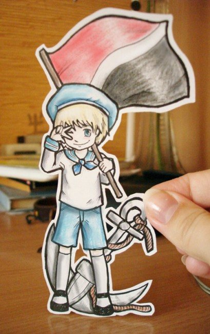 Sealand Paper Child 409x650 26 Amazing Examples Of Paper Art