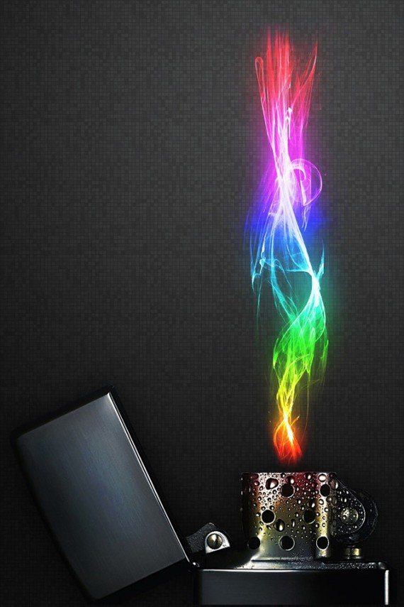 Lighter Creative Wallpaper iPhone