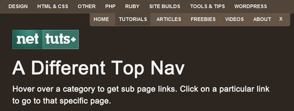 Different Type of Jquery Top Nav