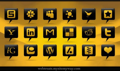 icon pack057 55 Free Social Networking PNG/ICO Icon Packs