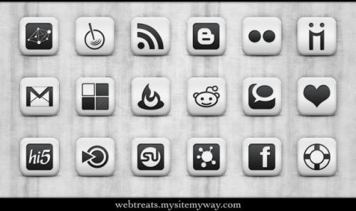 icon pack066 55 Free Social Networking PNG/ICO Icon Packs
