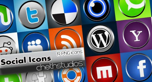 icon pack125 55 Free Social Networking PNG/ICO Icon Packs
