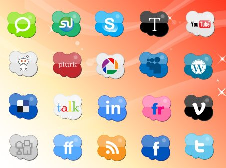 icon pack126 55 Free Social Networking PNG/ICO Icon Packs