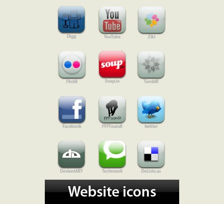 icon packs 11 14 55 Free Social Networking PNG/ICO Icon Packs