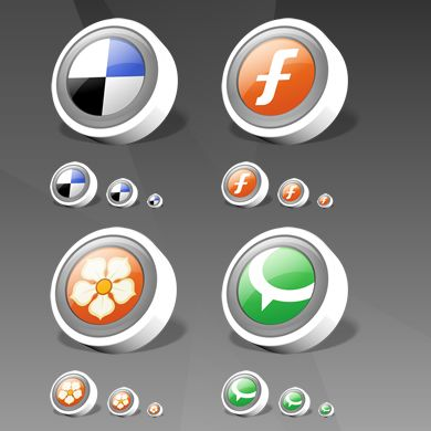 icon packs09 55 Free Social Networking PNG/ICO Icon Packs