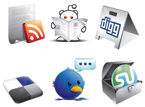 icon packs12 55 Free Social Networking PNG/ICO Icon Packs