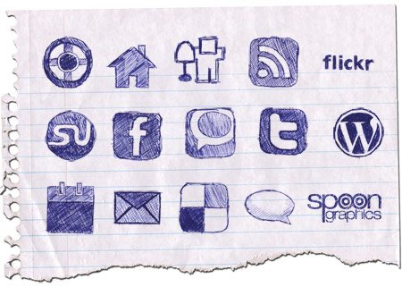 icon packs15 55 Free Social Networking PNG/ICO Icon Packs