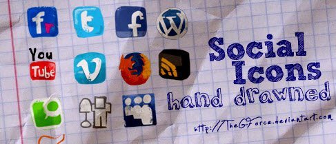 icon packs16 55 Free Social Networking PNG/ICO Icon Packs