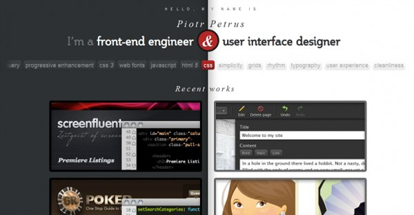 28 Stunning Collection Of HTML 5 Websites by Designsmagcom