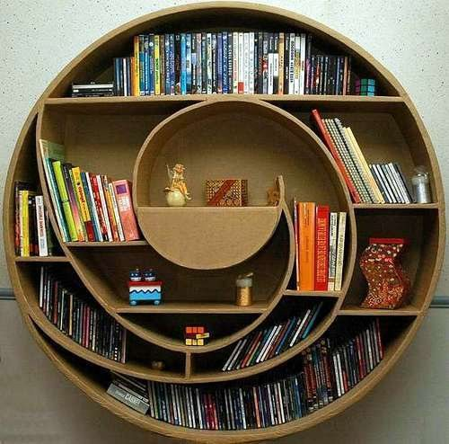 unusual and desirable bookshelves designs circle 46 Creative and Stylish Bookshelf Designs