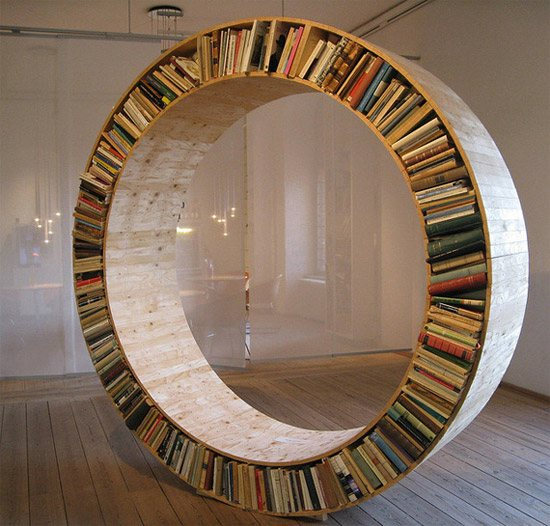unusual and desirable bookshelves designs circle1 46 Creative and Stylish Bookshelf Designs